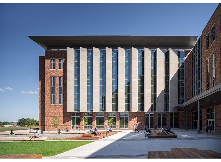 Aerospace Engineering Sciences Building, University of Colorado side view showing precast ARCIS panels