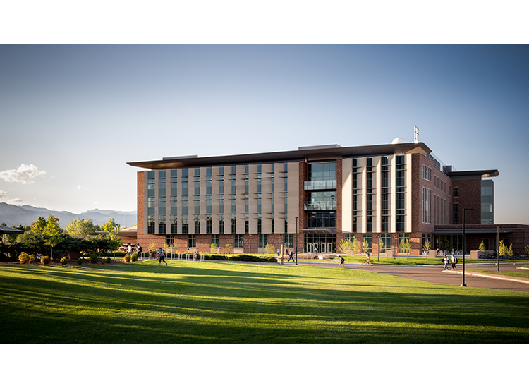 Aerospace Engineering Sciences Building, University of Colorado late afternoon view showing precast ARCIS panels