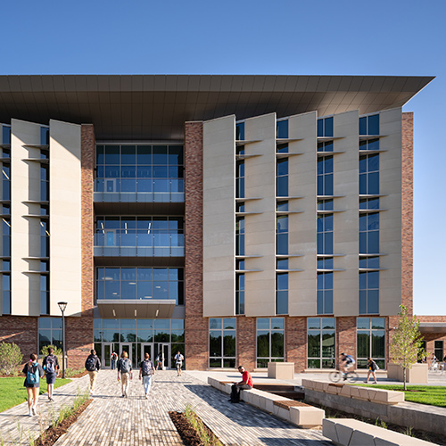 Aerospace Engineering Sciences Building, University of Colorado front view showing precast ARCIS panels