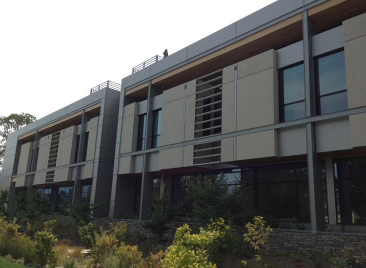 ARCIS panels on Women's Center side view