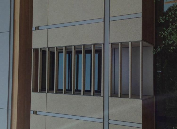 ARCIS panels detail on Women's Center
