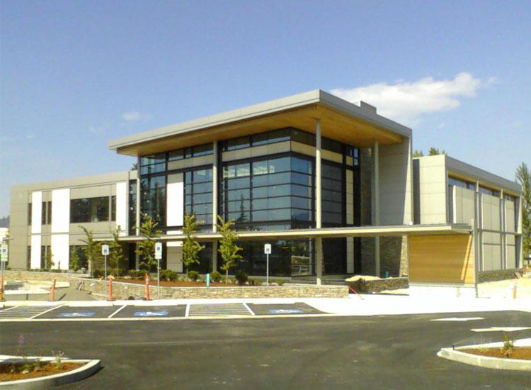ARCIS panels Women's Center front entrance