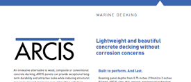 cover image of ARCIS marine decking brochure