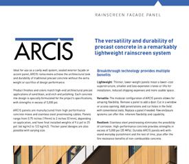 cover image of ARCIS rainscreen brochure