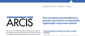 cover image of ARCIS rainscreen brochure