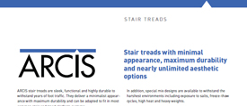 cover image of ARCIS stair treads brochure