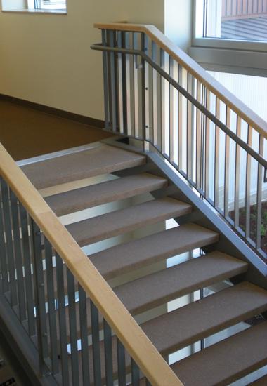 ARCIS panel stair tread interior