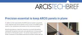 cover image of ARCIS tolerances technical brief