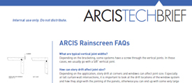 cover image of ARCIS rainscreen technical brief